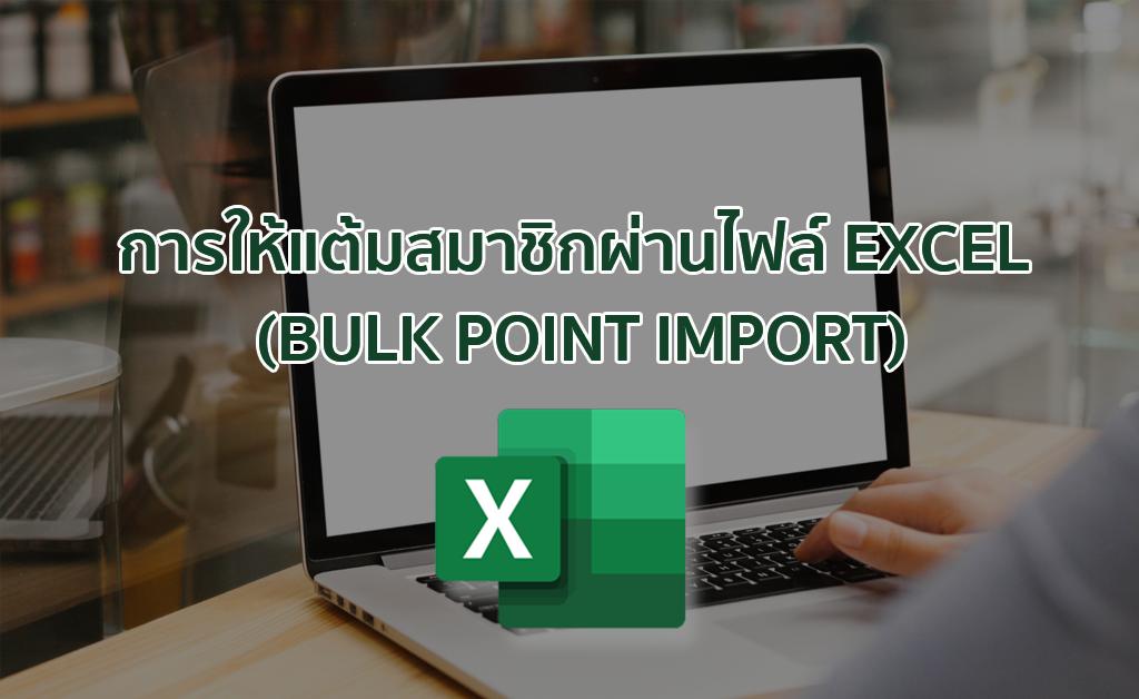 การให้แต้มสมาชิกผ่านไฟล์ Excel (Bulk Point Import)